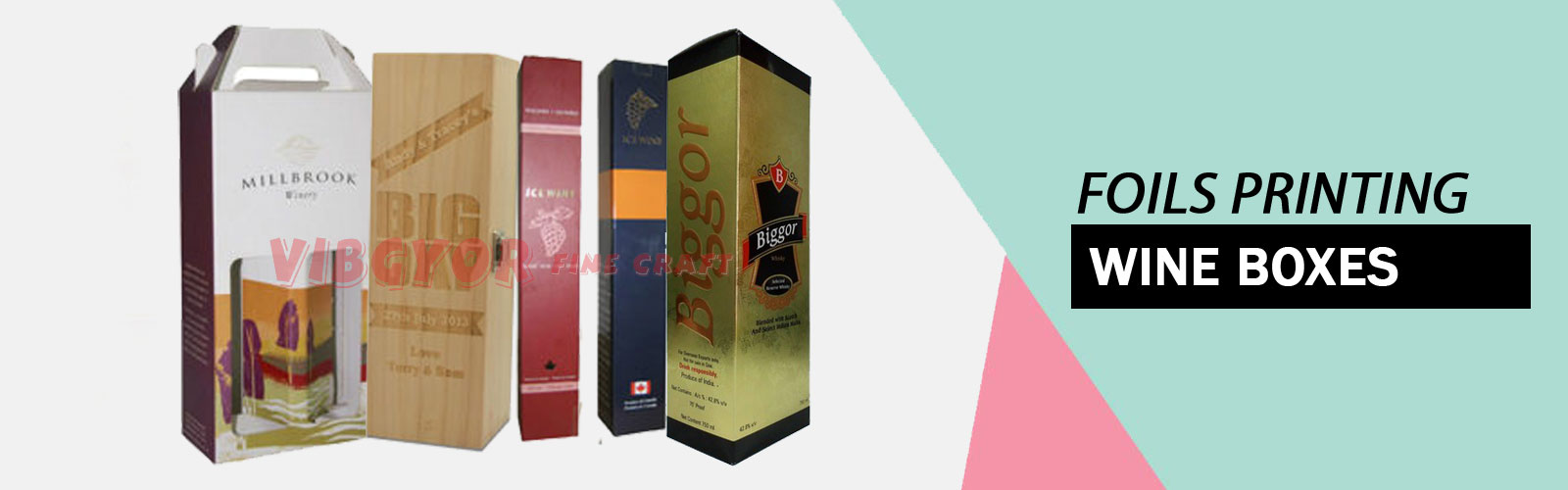 Foils printing Wine Boxes